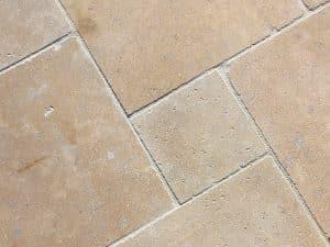 closeup photo of a limestone paving