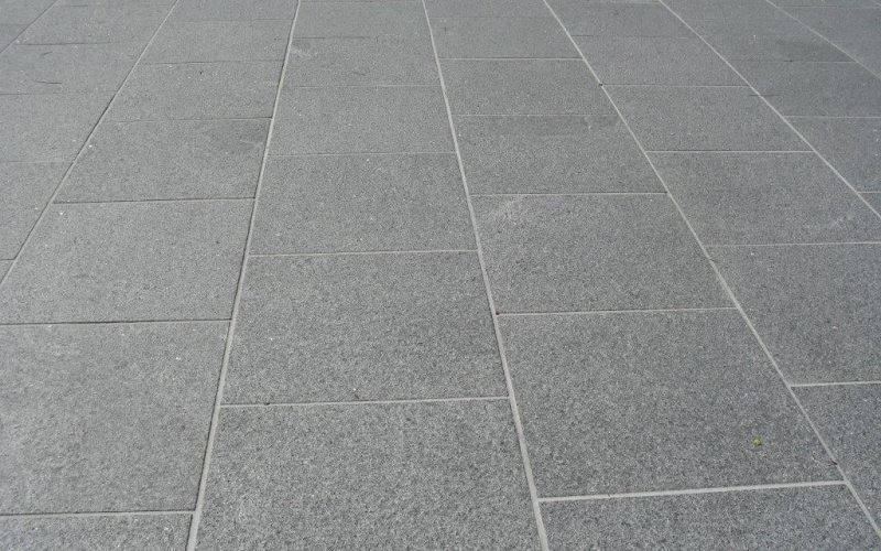 closeup photo of a granite paving